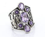 Amethyst Ring With Freestyle Design