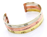 Gold Plated Bracelet With Freestyle Engraving