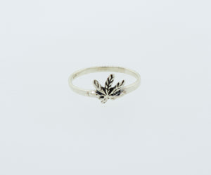 Marijuana Leaf Ring