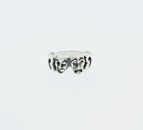 Comedy and Tragedy Masks Ring
