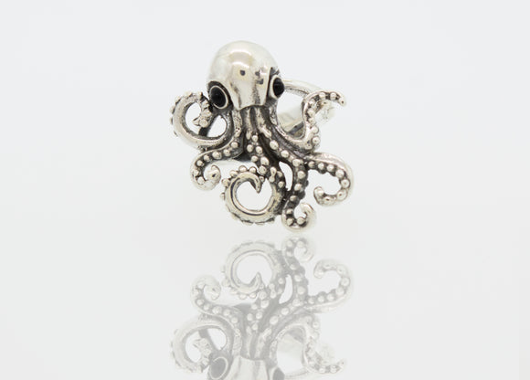 Designer Octopus Adjustable Ring