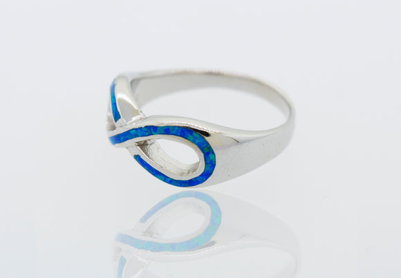 Created Opal Infinity Ring
