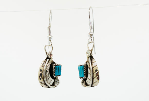 Zuni Handmade Turquoise Earrings