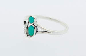 Turquoise Ring with Feather