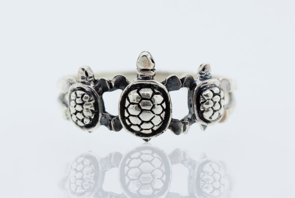 Three Turtles Ring