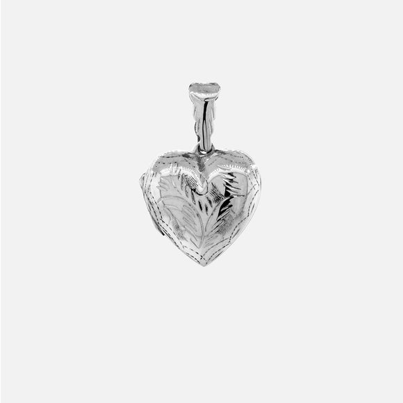 Heart-Shaped Locket with Vine-like Pattern