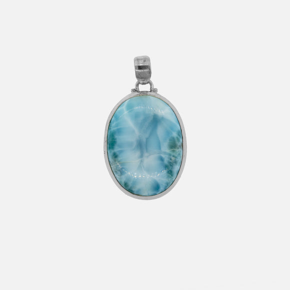 Larger Oval Larimar Pendant