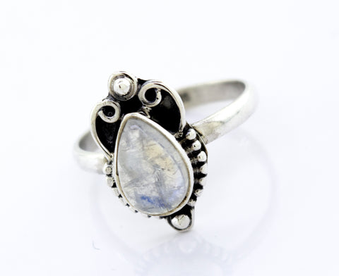 Teardrop Shape Moonstone Ring