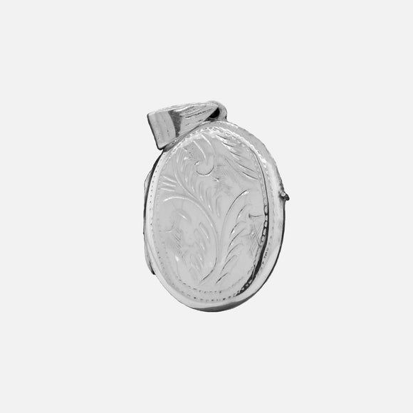 Oval Pendant with Vine Pattern