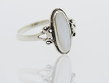 Oval Mother of Pearl Ring