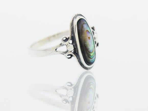 Oval Abalone Ring
