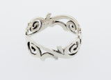 Sterling Silver Freestyle Swirl Design Ring