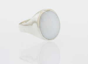 Oval Mother of Pearl Heavy Ring