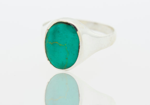 Oval Turquoise Heavy Ring