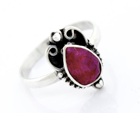 Teardrop Shape Ruby Ring