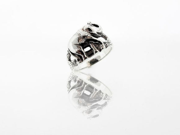 Elephant Ring With Textured Split Shank