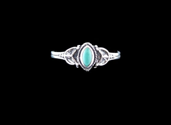 Elipse Turquoise Inlayed ring