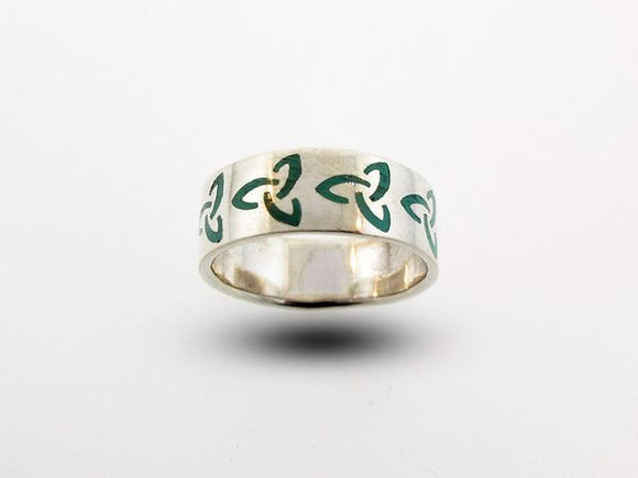 Celtic Trinity Knot Thick Band Ring