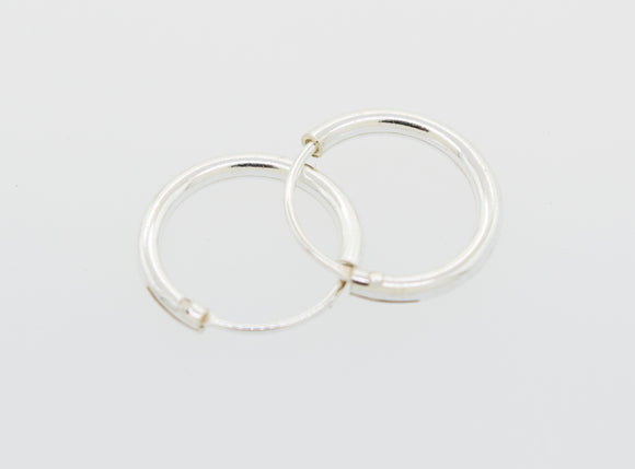 Silver Infinity Hoops 1mm X 12mm