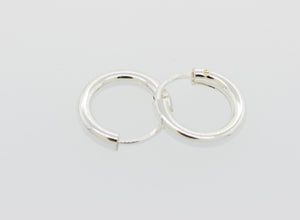 Silver Infinity Hoops 0.75mm X 7.5mm