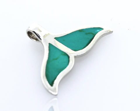 Turquoise Whale Tail Pendant