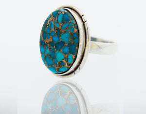 Natural Blue Copper Turquoise Ring