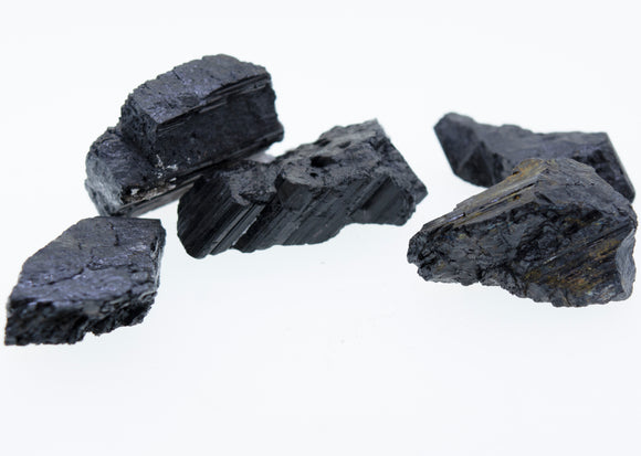 Rough Black Tourmaline Crystals