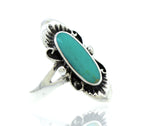 Elongated Oval Turquoise Ring