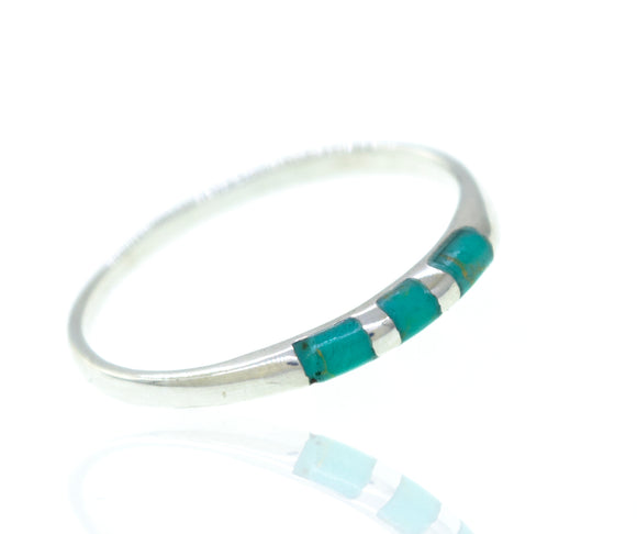 Striped Turquoise Ring