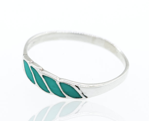 Turquoise Striped Ring With Four stripes