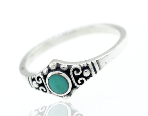 Beautiful Oval Turquoise With Small Beads Design