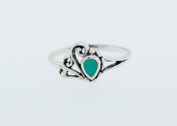 Teardrop Shape Turquoise Ring