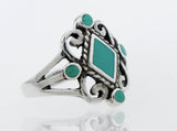 Turquoise Diamond Shape Ring