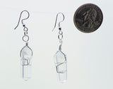 Obelisk-Shaped Stone Dangle Earrings with Twist Wire-Wrapping