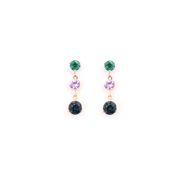 Gemstone Dangle Drop Earrings (pair)