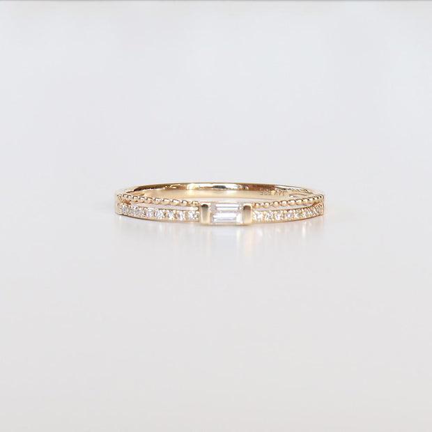Double Row Diamond Baguettes Ring