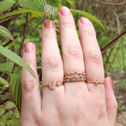 Emerald & Diamond Rose Gold Band