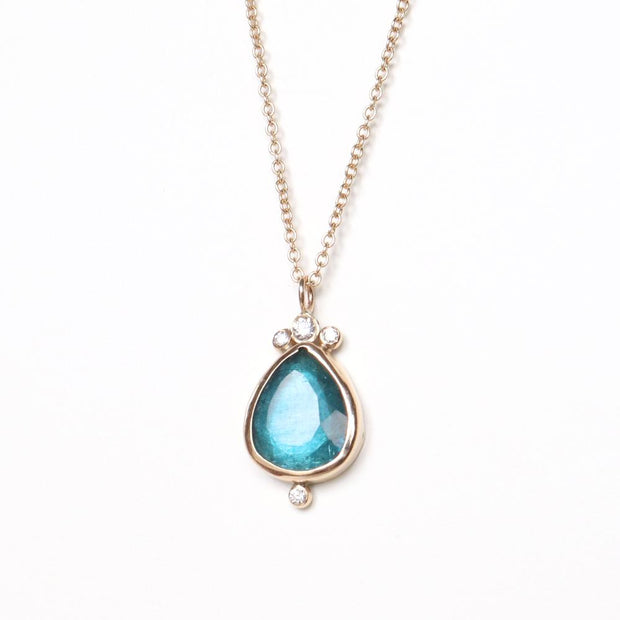 Tourmaline Teardrop Necklace