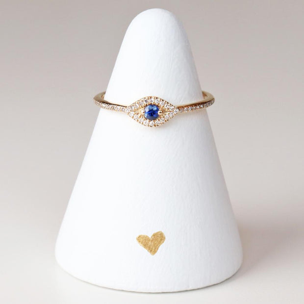 Diamond Evil Eye Ring