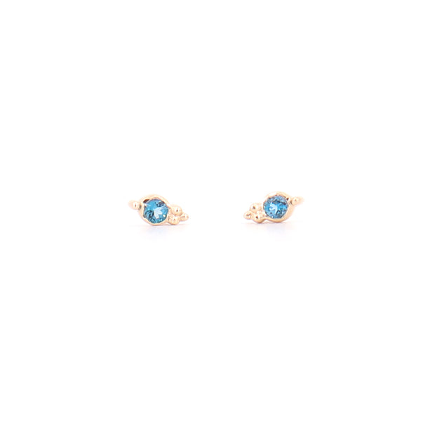 Iris London Blue Topaz Studs