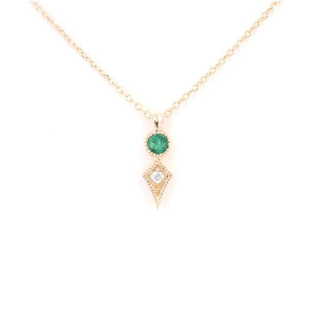 Emerald Kite Necklace