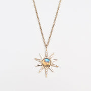 Labradorite Diamond Star Necklace