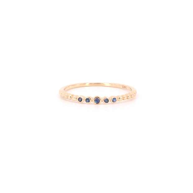 Lily Blue Sapphire Stacking Ring