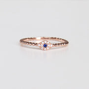 Mini Diamond Evil Eye Ring