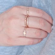 Aurora Rose Gold Diamond Band
