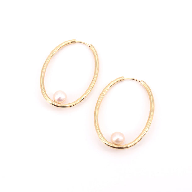 Pearl Hoops (pair)