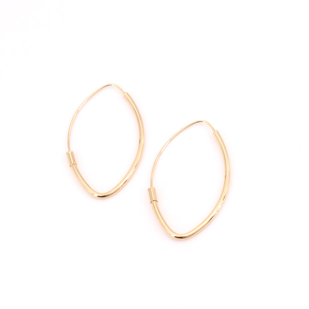 Pointed Plain Hoops (pair)