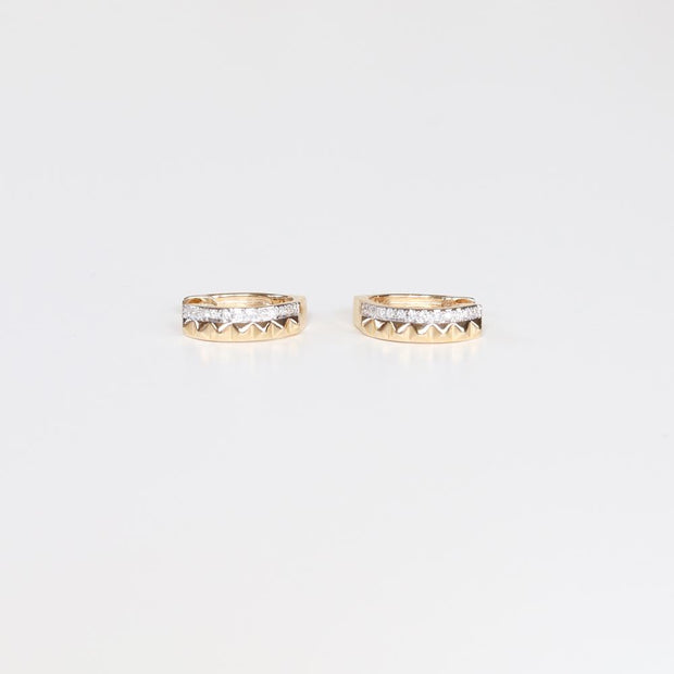 Diamond Pyramid Hoops (pair)
