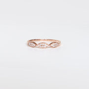 Benevolent Diamond Rose Gold Band