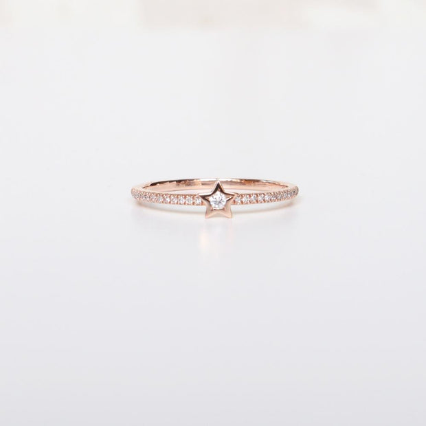 Diamond Star Rose Gold Ring